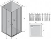 Ravak Chrome CRV2 120 cm zuhanyajtó