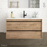Salgar Attila ostippo oak 1000 fürdőszobaszekrény+mosdó
