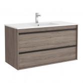 Salgar Attila Eternety Oak 1000 fürdőszobaszekrény+mosdó