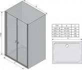 Ravak Chrome CSDL2 120 cm zuhanyajtó