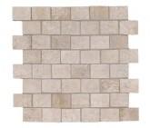 Supergres Story Ivory Mosaico Burattato 30x30 cm