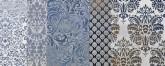 Shine Batik Turchese Decoro C 24x59 cm