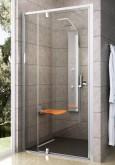 Ravak Pivot PDOP2 110 cm-es Fehér + Króm/ Fehér - kétrészes,kifelé nyíló zuhanyajtó