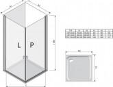 Ravak chrome CRV1 100 cm zuhanyajtó