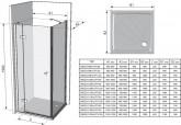 Ravak SmartLine SMPS 100 cm B/J Fix oldalfal