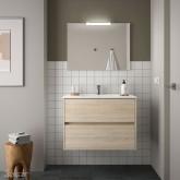 Salgar Noja fürdőszobabútor tükörrel, világítással