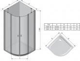 Ravak Chrome CSKK4 90 cm zuhanykabin