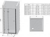 Ravak Brilliant BSD2 cm 100 B/J zuhanyajtó, B Set - 100
