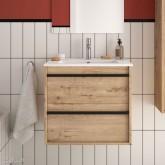 Salgar Attila ostippo oak 600 fürdőszobaszekrény+mosdó