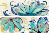 Imola Shades Flowers Sea Mix 20x60 cm