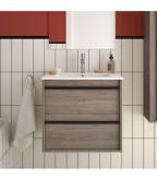Salgar Attila Eternety Oak 600 fürdőszobaszekrény+mosdó