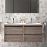 Salgar Attila Eternety Oak 1200 fürdőszobaszekrény+mosdó