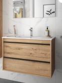 Salgar Attila ostippo oak 800 fürdőszobaszekrény+mosdó