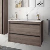 Salgar Attila Eternety Oak 800 fürdőszobaszekrény+mosdó